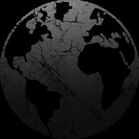 Sticker Monde Mappemonde Globe Noir