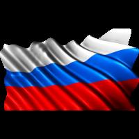 Autocollant Drapeau Russie