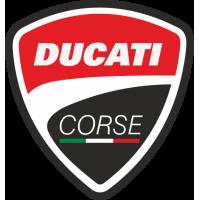 Sticker LOGO DUCATI Corse Noir