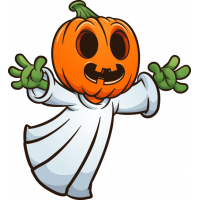 Stickers Halloween Fantôme Citrouille Zombie