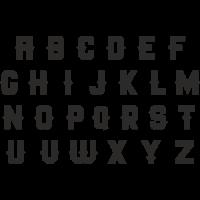 Planche Sticker Lettres N°4