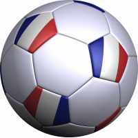 Sticker ballon foot france