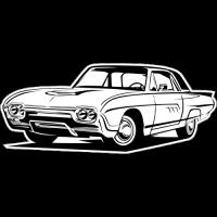 Sticker FORD Car Thunderbird