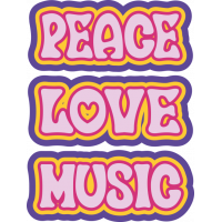 Sticker Peace and Love Fleure Violet