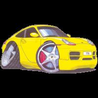Autocollant 1322-Porsche-996