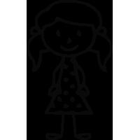Sticker Famille Petite Fille