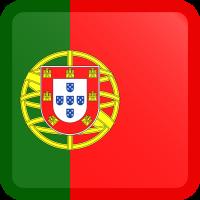 Autocollant Drapeau Portugal carré bouton