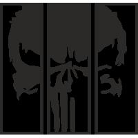 Sticker Effet Cadre Punisher