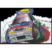 Autocollant 308-Renault Clio Rally