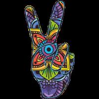 Sticker Peace and Love Doigt Mandala