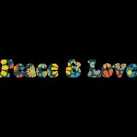 Sticker Peace and Love Fleurs