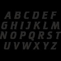 Planche Sticker Lettres N°3
