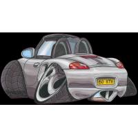 Autocollant 348-Porsche-Boxter