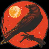 Stickers Halloween Corbeau