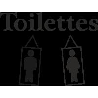 Sticker Homme Femme Toilette 5