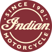 Sticker INDIAN LOGO ROND ROUGE
