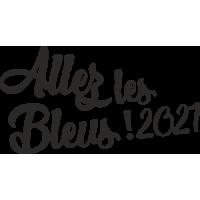 Sticker Allez les bleus 2021 Foot