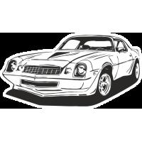 Sticker CHEVROLET TRANS AM Car