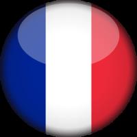 Autocollant Drapeau français rond 2