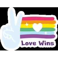 Sticker Love Wins Gay