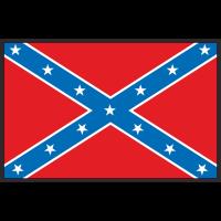 Autocollant Drapeau Confédéré Sudiste