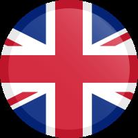 Autocollant Drapeau Royaume-Uni rond bouton