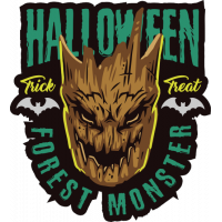 Stickers Halloween Forest Monster