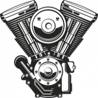 Sticker Moteur V