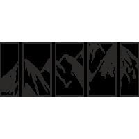 Sticker Effet Cadre Montagne