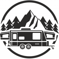 Sticker Déco Baril Camping car