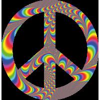 Sticker Peace and Love Illusion