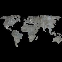 Sticker Monde Mappemonde Globe Grunge 3