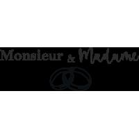 Sticker Monsieur et Madame