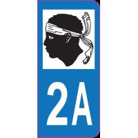Sticker immatriculation 2A - Corse-du-Sud