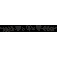 Sticker Tête de lit Coeur