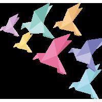 Autocollant Oiseaux Origami