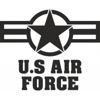 Sticker Etoile US Air Force