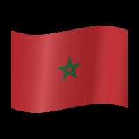 Autocollant Drapeau Maroc 2