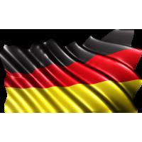 Autocollant Drapeau Allemagne