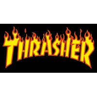 Autocollant Thrasher flamme
