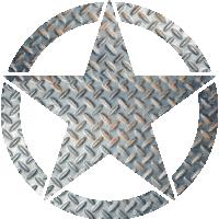 Sticker Etoile US Aluminium