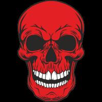 Sticker Red Skull
