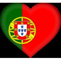 Autocollant Drapeau Portugal coeur