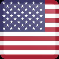 Autocollant Drapeau américain carré bouton