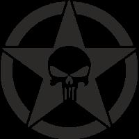 Sticker Etoile US Punisher