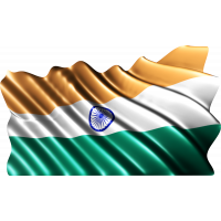 Autocollant Drapeau Inde