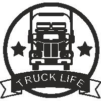 Sticker Déco Baril Camion