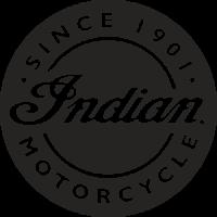 Sticker INDIAN LOGO ROND NOIR
