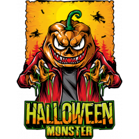 Stickers Halloween Pumpkin Head 3 Citrouille