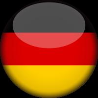 Autocollant Drapeau allemand rond 2